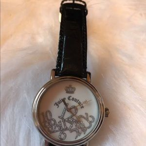 Juicy Couture Black W/silver and white